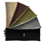 Headband 5-pack - single layer thin hBand Earth-tone collection (olive, grey, beige, dark brown, black) by Absolute Yogi