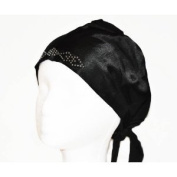 10 Assorted Colours Satin Front Under Hijab Bonnets with Rhinestones
