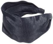 Shiny Vinyl Scarf Headband - Large - Black