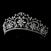 Elise Stunning Crystal Floral Wedding Bridal Tiara