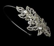 Gitta Modern Rhinestone Couture Side Accented Wedding Bridal Headband Tiara