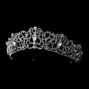 Anastasia Majestic Silver Crystal Tiara Headpiece