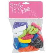 Style It Up Small Assorted Terry Ponytail Holders
