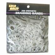 Gold Magic Clear Elastic Braiding Bands