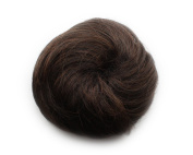 Fashion Donut Clip-on Dish Hair Bun Tray Ponytail Extension Hairpiece Wig Dark Brown