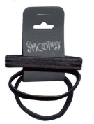 Smoothies Flat Black Metal Free Pony Tail Holders