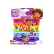 Nickelodeon 12pc Multi-Colour Dora the Explorer Hair Elastic Set with Bauble - Dora Hair Ponies