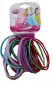 Disney Princess Hair Elastic Ponytails 20 Pc Bundle Assorted Colours