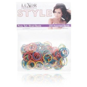 Luxor Professional Style Pony Tail Braid Bands 250 Assorted Bands