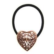 1928 Jewellery Vintage Flower Black Elastic Hair Tie