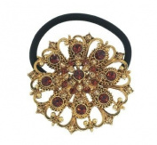 Topaz Instant Glamour Brooch Ponytail Holder