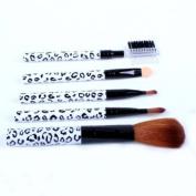 Cosmetic Brush Kit 5 Pcs Makeup Brush Travel Set Princessa - White