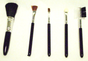 COSMETIC BRUSHES 5 Pc Set Foundation Shadow Blush Eye Comb Makeup Make Up New