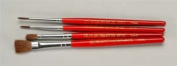 60-4PS Red Sable 4pc Flat/Round Brush