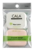 Elixir Beauty Cala 2 Pcs Makeup Wedges Sponges Non-Latex Oil Resistant for All Skin Types