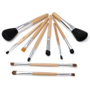 IQ Natural 10pc Professional Studio Quality Eco Mineral Tool Makeup Brush Set