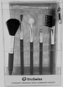 BioSwiss Cosmetic Brushes with Carrying Case