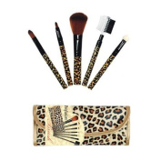 Profusion Makeup Brush 7 Pieces Set Pouch in Leopard Colour - B-899