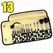 Leopard Design - Makeup Brushes x 13pcs CODE