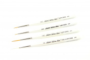 Silver Brush UMS-2445S Ultra Mini Detail Short Handle Brush Set, 4 Per Pack