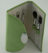 LIME GREEN MAKE-UP BRUSHES, SET/5,