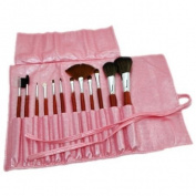 12pcs Makeup Brush + Pearl Pink Holder CODE