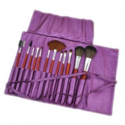12pcs Makeup Brush + Pearl Violet Holder CODE