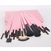 23pcs Pink Professional Cosmetic Makeup Make up Brush Brushes Set Kit With Bag Case