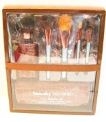 Beauty Accents Brown Croc Cosmetic Brush Set - 7 Pieces