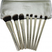 ANNIKA MAYA 8 pc Cosmetic Brush Set - Champagne Kisses