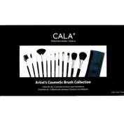 Elixir Beauty 12pc Artist Studio Quality Artist's Cosmetic Brush Set Make Up Collection w/ Leather Case