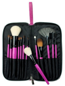 Royal & Langnickel Zipped Case Natural and Synthetic Hair 13-Piece Cosmetic Brush Set