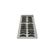 eBox 10 Pairs Of Reusable Thick False Eyelashes