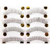 New Thin 10 Pair Natural Black Long Fake False Eyelashes Eye Lash Makeup