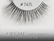 Creme (Pairs of 3) 100% HUMAN HAIR Fashion Eye Lashes Pair #747L