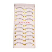 New 10 Pairs Handmade Bottom Lower False Eyelashes Fake Eye Lash Black