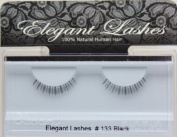 Elegant Lashes #133 Black 100% Human Hair False Under Eyelashes for Lower/Bottom Lashes