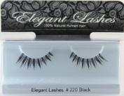 Elegant Lashes #220 Black Natural Spiky False Eyelashes