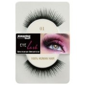 Amazing Shine Human Hair False Eyelashes - 01