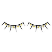 Yellow Diamante False Eyelashes 07