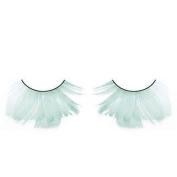 Long Pale Green Feather Eyelashes