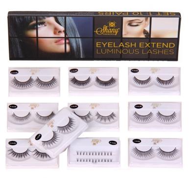 SHANY Cosmetics Eyelash Extend Assorted Reusable Eyelashes Thin Collection, 110ml