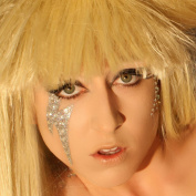 Gaga Glitter Eyes Professional Rhinestone Eye Applique Decal Gaga Lightening Bolt Xotic Eyes