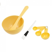Set 10cm 1 DIY Facial Mask Mixing Bowl Stick Brush Spoon Tool Apricot for Women