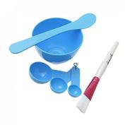 Rosallini Blue Homemade Face Mask Mixing Bowl Brush Gauge Stick Set