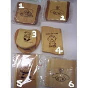 ONE Wood Compact Mirror about 7.6cm width length choose 1