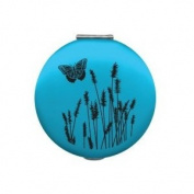 2327 Compact Mirror - Natural Elements - Blue Butterfly