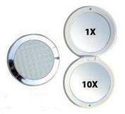 Rucci Round Compact Mirror, 1X/10X