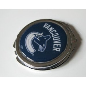 Vancouver Canucks Ladies Compact Mirror w/ Floral Design