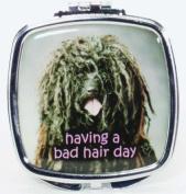 having a bad hair day Compact Mirror